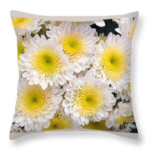 Floral Throw Pillow featuring the photograph Spring Fever by Kathy Bucari