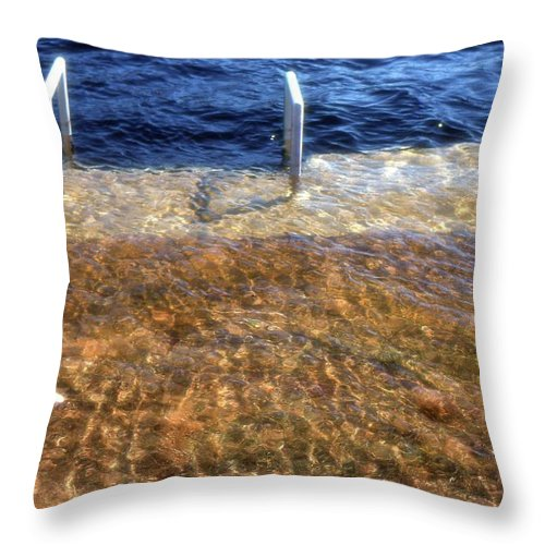 Spring Throw Pillow featuring the photograph Spring Flood by Lyle Crump