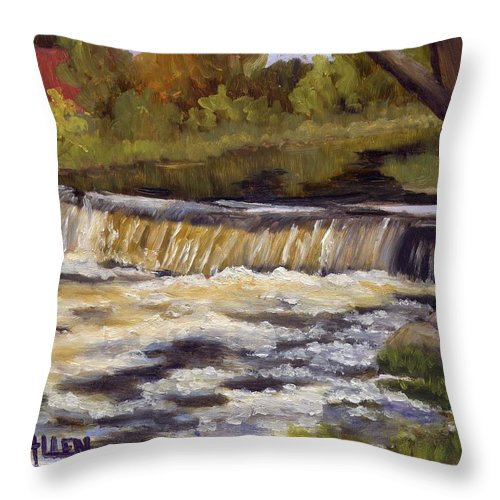 Water Throw Pillow featuring the painting Spring Flow by Sharon E Allen