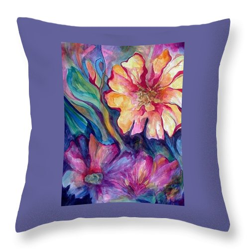 Spring Throw Pillow featuring the painting Spring In My heart by Carolyn LeGrand