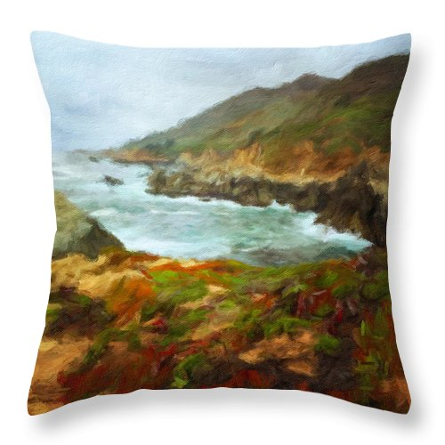 Landscape Throw Pillow featuring the photograph Spring by Jonathan Nguyen