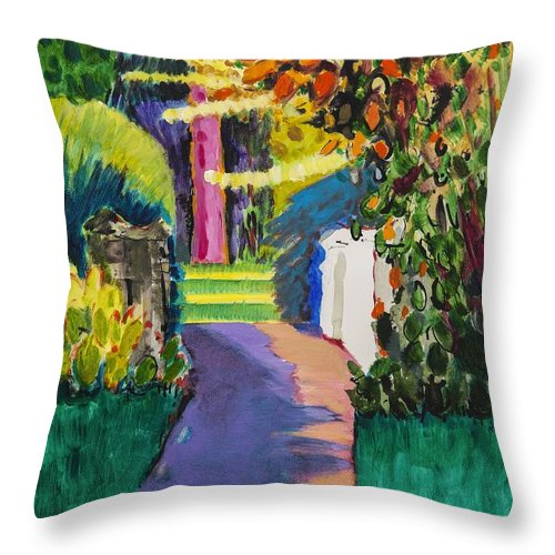 Spring Throw Pillow featuring the painting Spring by Marco Cazzulini