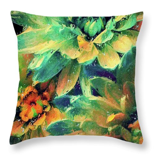 Flowers Throw Pillow featuring the painting Spring Petals by Jamie Holbrook