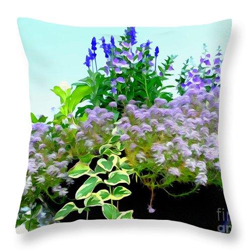 Digital Throw Pillow featuring the photograph Spring Planter by Ed Weidman