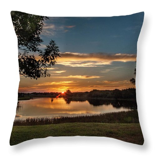 Sunrise Throw Pillow featuring the photograph Spring Sunrise At Valhalla by Norman Johnson