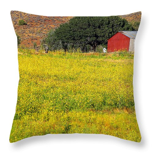 Landscape Throw Pillow featuring the photograph Spring Wild Flowers by Nabila Khanam