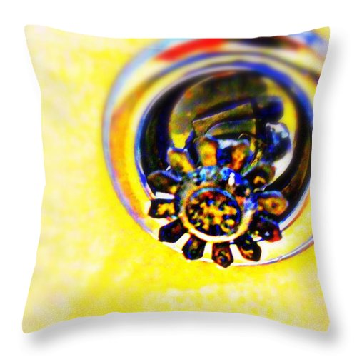 Sprinkler Throw Pillow featuring the photograph Sprinkler by Randall Weidner