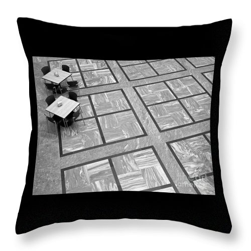 Squares Throw Pillow featuring the photograph Squared by Ann Horn