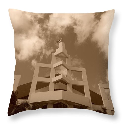 Architecture Throw Pillow featuring the photograph Squares In The Sky by Rob Hans