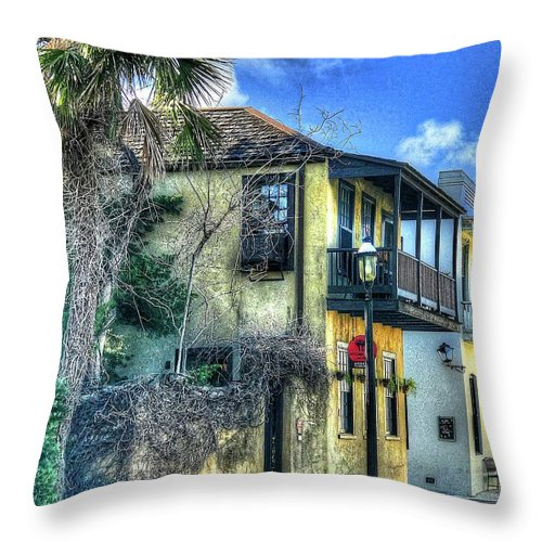 House Throw Pillow featuring the photograph St. Augustine House by Debbi Granruth