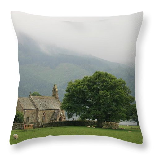 Bassenthwaite Throw Pillow featuring the photograph St Bees by Andy Mercer
