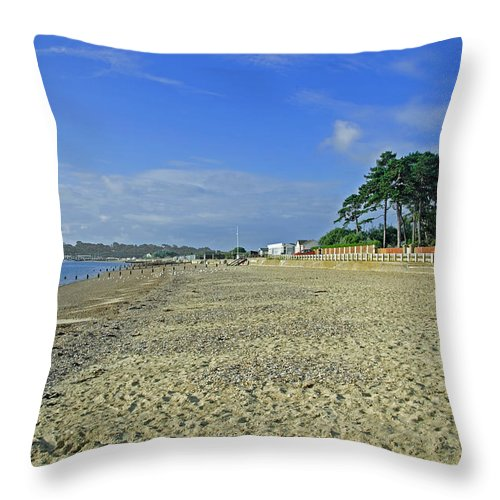 St Helens Throw Pillow featuring the photograph St Helens Beach by Rod Johnson