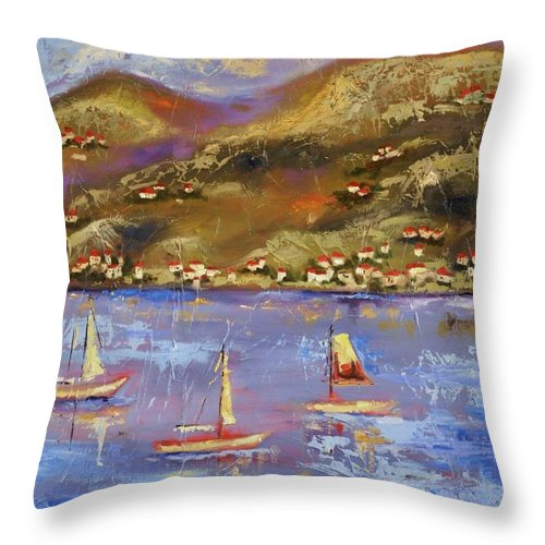 St. John Throw Pillow featuring the painting St. John USVI by Ginger Concepcion