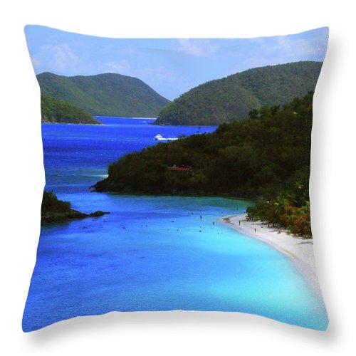 Caribbean Island Throw Pillow featuring the photograph St. John's Paradise by Gary Wonning