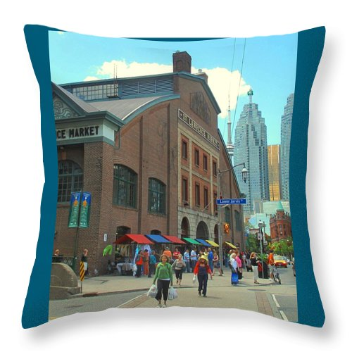 Market Throw Pillow featuring the photograph St Lawrence Market by Ian MacDonald