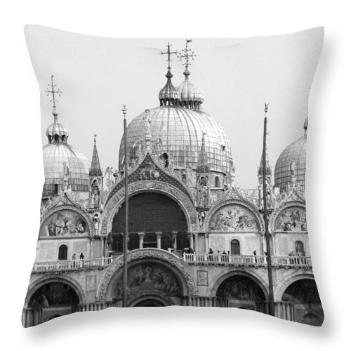 St. Marks Throw Pillow featuring the photograph St. Marks by Donna Corless