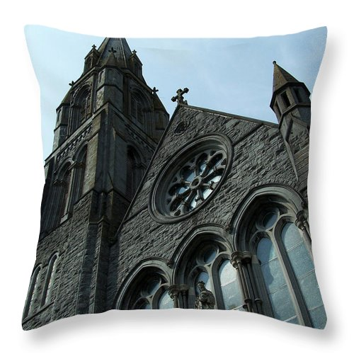 Ireland Throw Pillow featuring the photograph St. Mary's Of The Rosary Catholic Church by Teresa Mucha