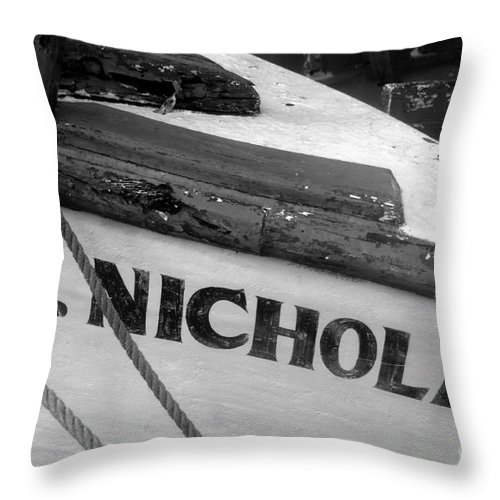St. Nicholas Throw Pillow featuring the photograph St. Nicholas by David Lee Thompson