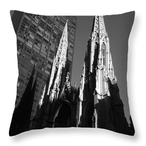 Architecture Throw Pillow featuring the photograph St. Patrick's Cathedral by John Schneider