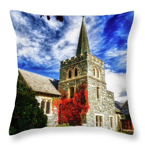Queenstown Throw Pillow featuring the photograph St. Peter's Church by Doug Sturgess
