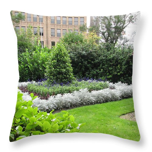Ireland Throw Pillow featuring the photograph St. Stephen's Garden by Kelly Mezzapelle