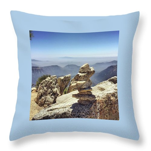 Rocks Throw Pillow featuring the photograph Stacked Up by Adam Parker