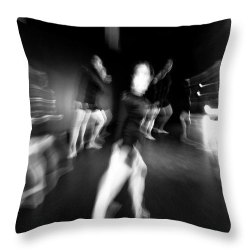 Moden Dance Throw Pillow featuring the photograph Stage Zoom - 1 by Scott Sawyer