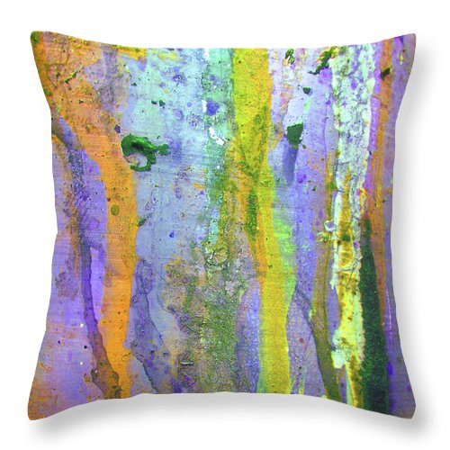 Abstract Throw Pillow featuring the photograph Stains Of Paint by Carlos Caetano