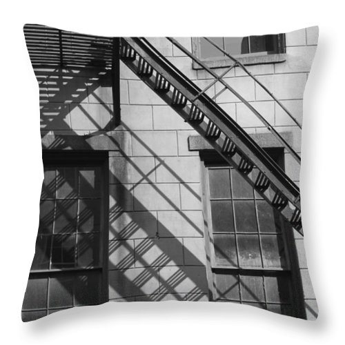 Stairs Throw Pillow featuring the photograph Stair Shadows by Lauri Novak