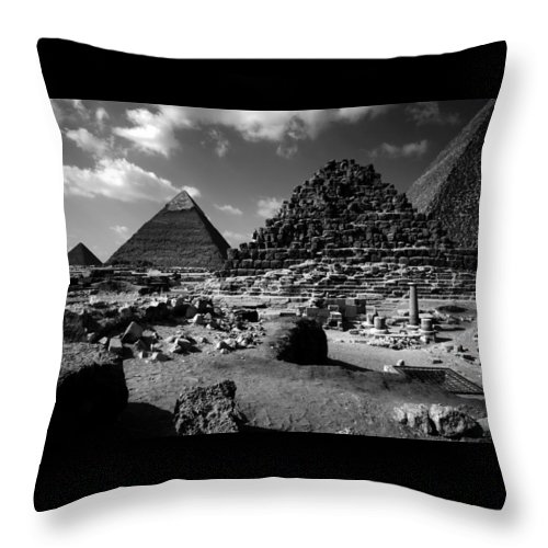 Pyramids Throw Pillow featuring the photograph Stair Stepped Pyramids by Donna Corless