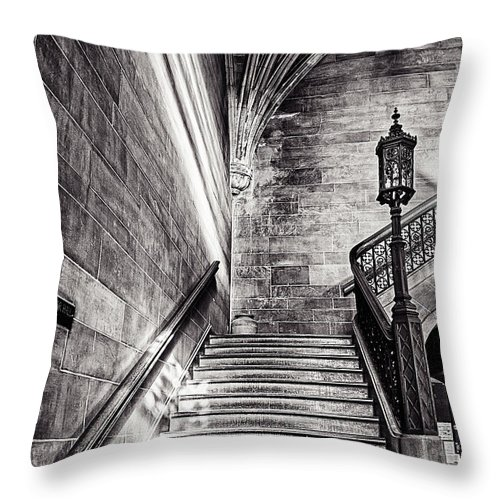 Cj Schmit Throw Pillow featuring the photograph Stairs Of The Past by CJ Schmit