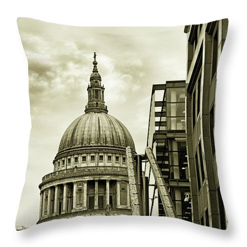 London Throw Pillow featuring the photograph Stairs To St Pauls by Martin Newman