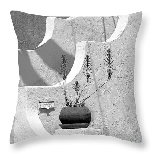 Plant Throw Pillow featuring the photograph Stairway Plant by Perry Webster