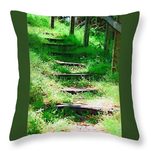 Stairs Throw Pillow featuring the photograph Stairway To Heaven by Donna Bentley