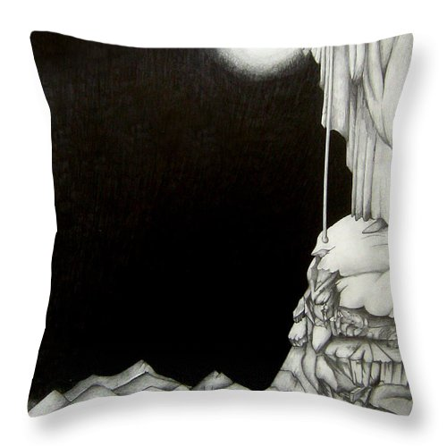 Heaven Throw Pillow featuring the drawing Stairway To Heaven by Patrice Torrillo
