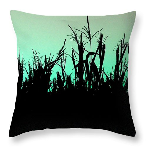 Corn Throw Pillow featuring the photograph Stalker by M Pace