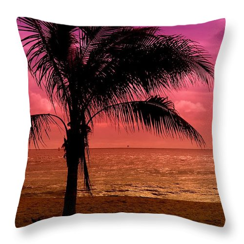 Jersey Shore Throw Pillow featuring the photograph Standing - Jersey Shore by Angie Tirado