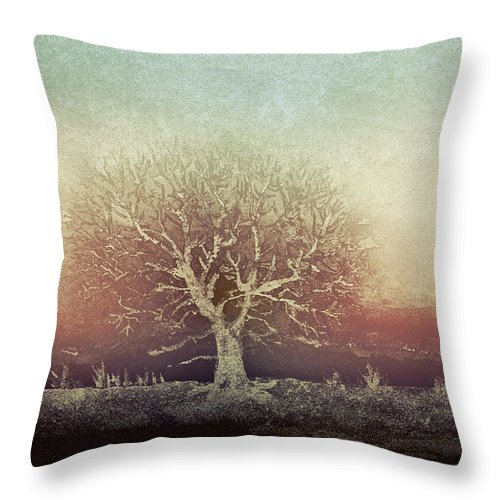Tree Throw Pillow featuring the digital art Standing Proud by Arline Wagner