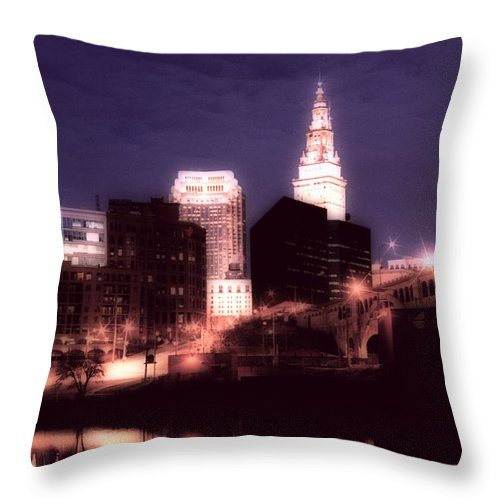 Cleveland Throw Pillow featuring the photograph Standing Tall by Kenneth Krolikowski
