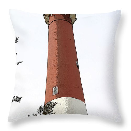 Seascape Throw Pillow featuring the photograph Standing Tall by Mary Haber