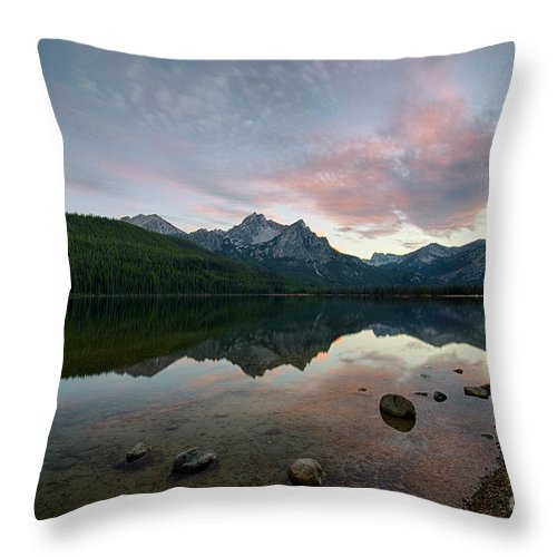 Idaho Throw Pillow featuring the photograph Stanley Lake by Idaho Scenic Images Linda Lantzy