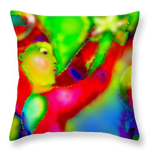Angel Throw Pillow featuring the digital art Star Angel by Angelina Marino