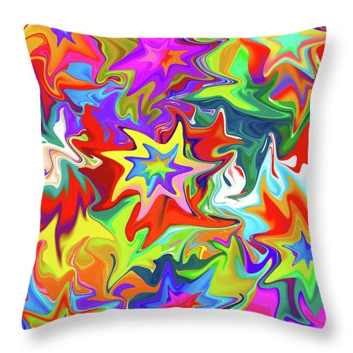 Abstract Throw Pillow featuring the digital art Star by Betsy Knapp