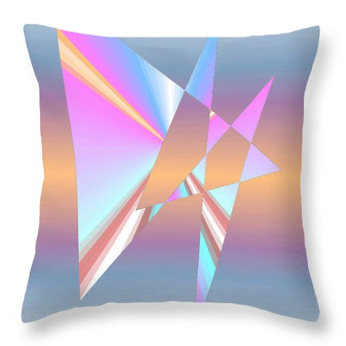 Architectonic Throw Pillow featuring the digital art Star Birth by Neal Doty