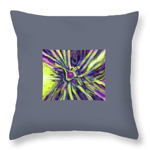 Abstract Throw Pillow featuring the digital art Star Burst by Ian MacDonald