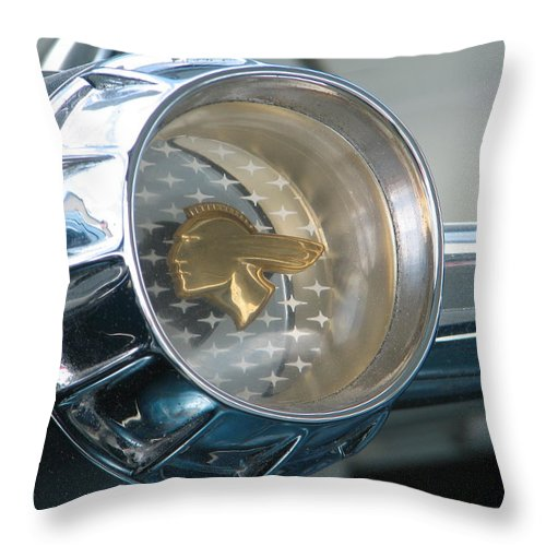 Pontiac Throw Pillow featuring the photograph Star Chief Steering by Kelly Mezzapelle
