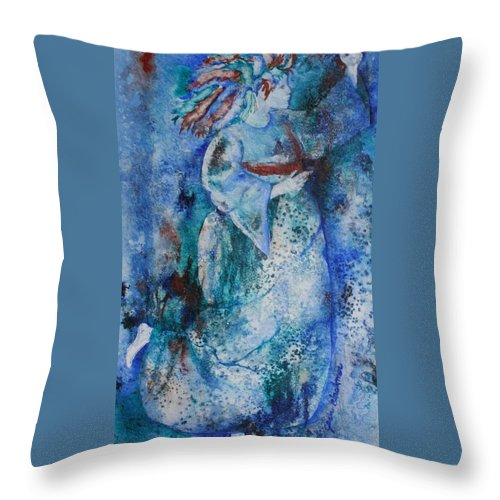 Abstract Throw Pillow featuring the painting Star Dancer by Jean Blackmer