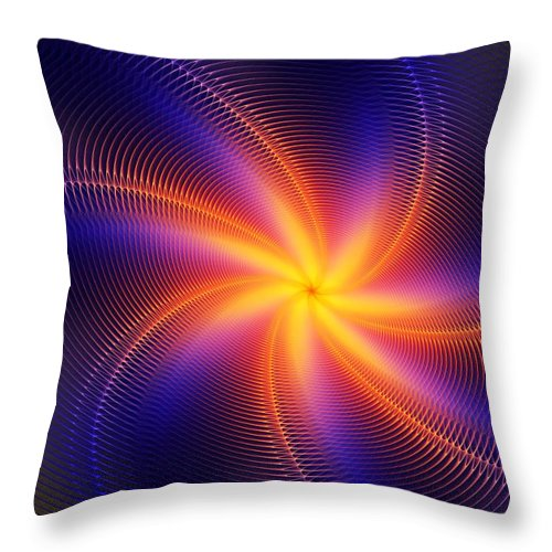 Digital Painting Throw Pillow featuring the digital art Star Daze by David Lane