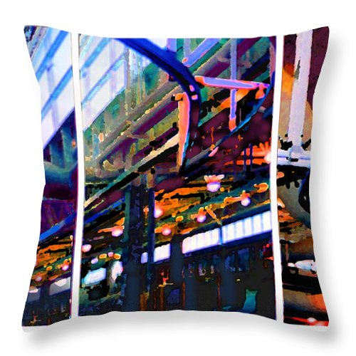Abstract Throw Pillow featuring the photograph Star Factory by Steve Karol