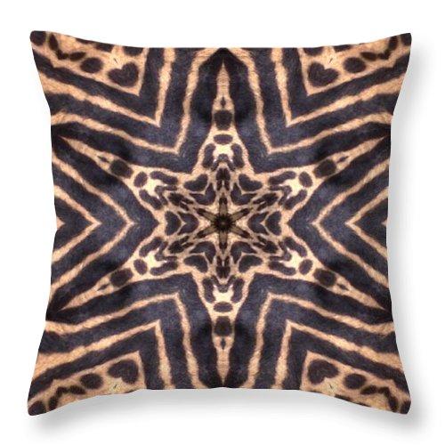 Digital Throw Pillow featuring the Star Of Cheetah by Maria Watt
